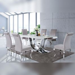 Portland Cream Dining Table 200cm
