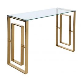 The Duke Gold Metal Console Table