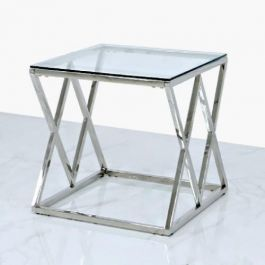 Milson Stainless Steel End Table