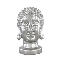 Silver Buddha Head Decoration