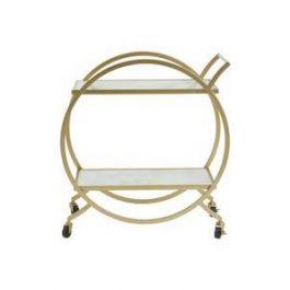 Avantis White Marble Gold Trolley