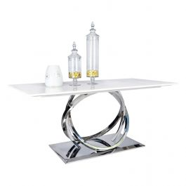 Harley Marble & Chrome 180cm Dining Table
