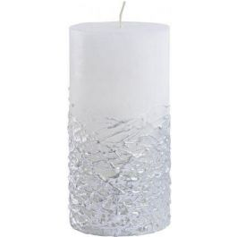 White Candle Textured Silver Base