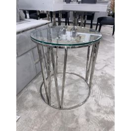 Mila Side Table - Clear Glass