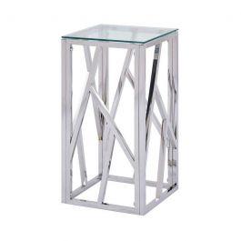 Azaria Chrome Tall End Table