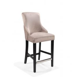 Megan Bar Stool With Knocker - Latte