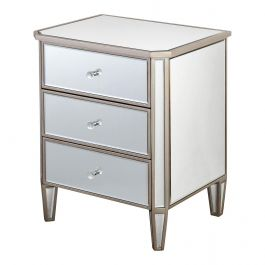 Fairmont Champagne 3 Drawer Bedside