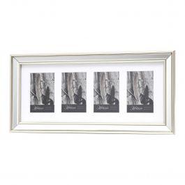 Silver Mirrored Multi x4 Photo Frame 4x6