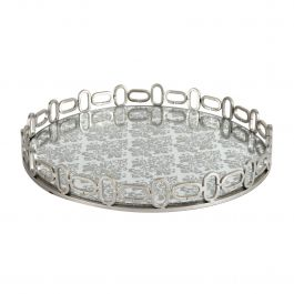 Baroque Patterned Mirrored Tray