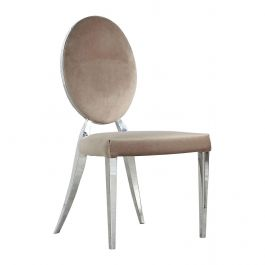 FELICITY - Round Back Chair - Mink