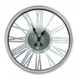 Silver Gears Wall Clock