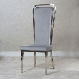 Lily  Chrome Silver Dining Chair
