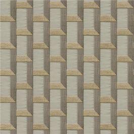 Geo Block Bronze Wallstitch Wallpaper