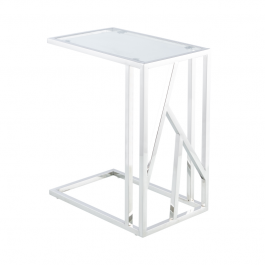 Azaria Clear Glass Top Sofa Table