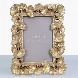 Gingko Gold Leaf Photo Frame 4x6