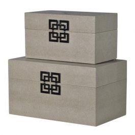 Grey Greek Set Of 2 Boxes