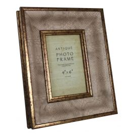 Antique and Snakeskin Photo Frame 4In x 6In
