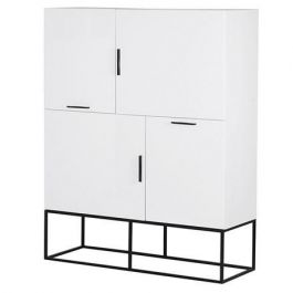 The White Gloss 4 Door Cabinet