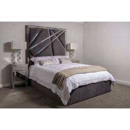Romo Grey Metal Bed