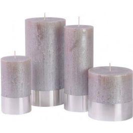 Taupe Metallic Candle 10cmx10cm