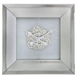 White Mirrored Wall Clock