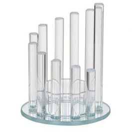 Glass Step Candle Holder Small