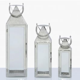 Roch Stainless Steel Lantern Set Of 3