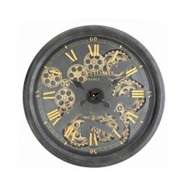 Gold Gears Wall Clock