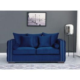 The Orla Royal Blue 2 Seater Sofa