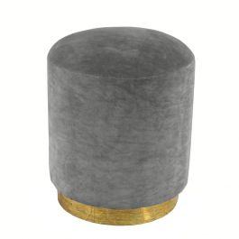 Dark Grey Velvet Small Stool