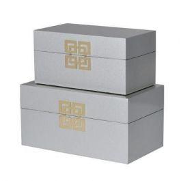 Silver Gold Greek Set Of 2 Boxes