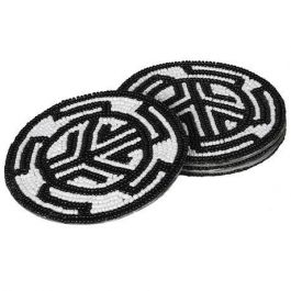 Beaded Aztec Coasters Set Of 4