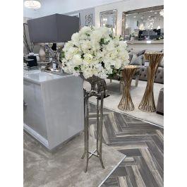 Floor Standing Vase Silver