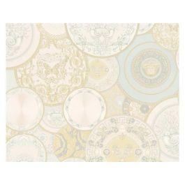 Versace Dish Silver Wallpaper