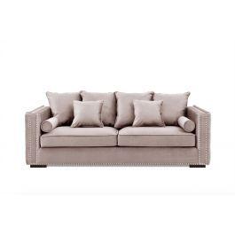 Valentia Three Seater Sofa Pink