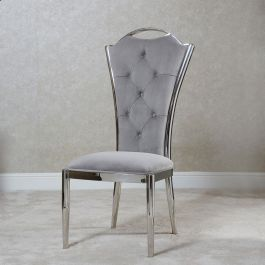 MILLIE  High Back Chair Silver