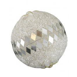 Beaded White Medium Decorative Ball