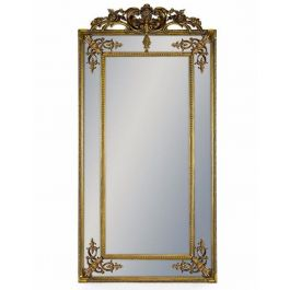 Gold French Wall Mirror With Crest