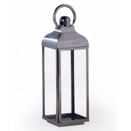 Chrome And Glass Lantern Large