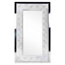 Floren Buttoned Mirror Silver