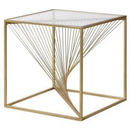 Gold Twist Side Table