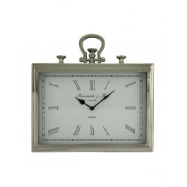 Nickel Rectangle Wall Clock