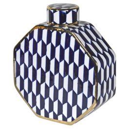 Large Blue & White Lidded Jar