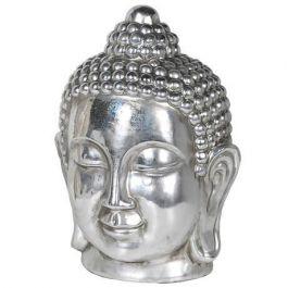 Rustic Silver Buddha Head