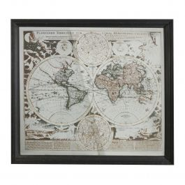 Map Mirrored Wall Art
