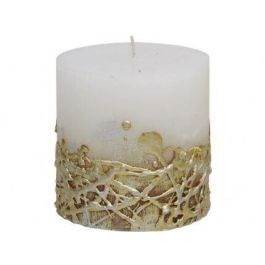 White Candle Textured Gold Base 10x10