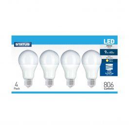 Warm White LED Edison Screw Bulb 4 Pack
