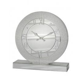 Aria Champagne Sparkle Round Table Clock Medium