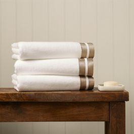 Mode White & Gold Bath Towel