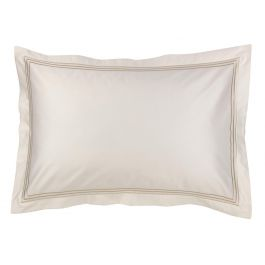 300TC Sateen Stripe Platinum Pillowcase Pair